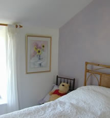 the single bedroom at the gables cottage